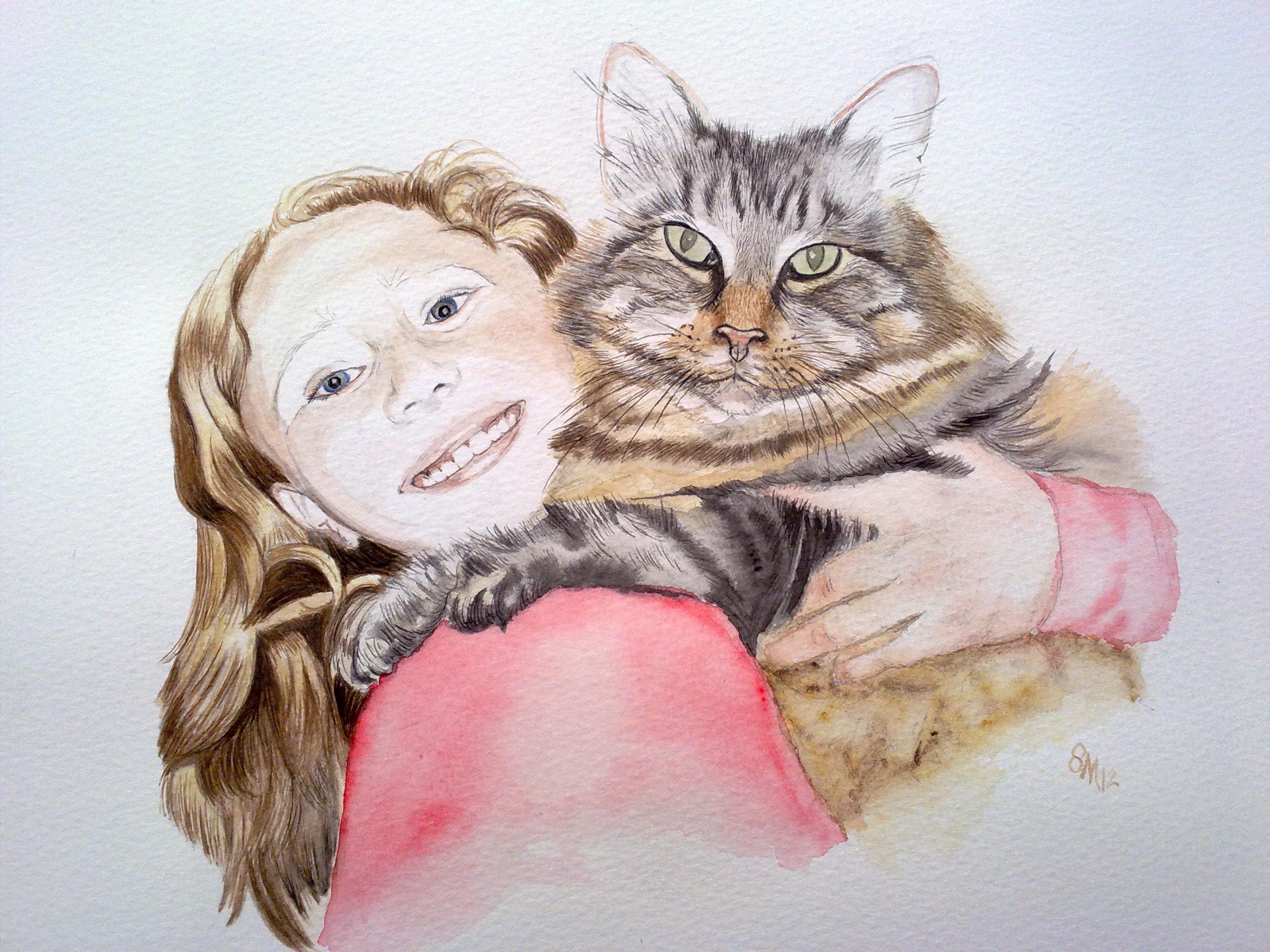 cats pet animal portrait