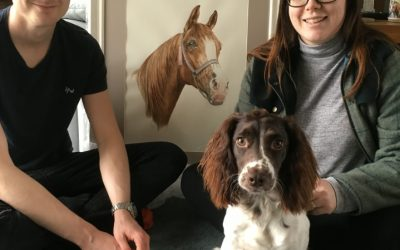 Pleasure to paint a Pet Portrait for a wedding present